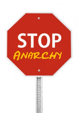Stop Anarchy Sign